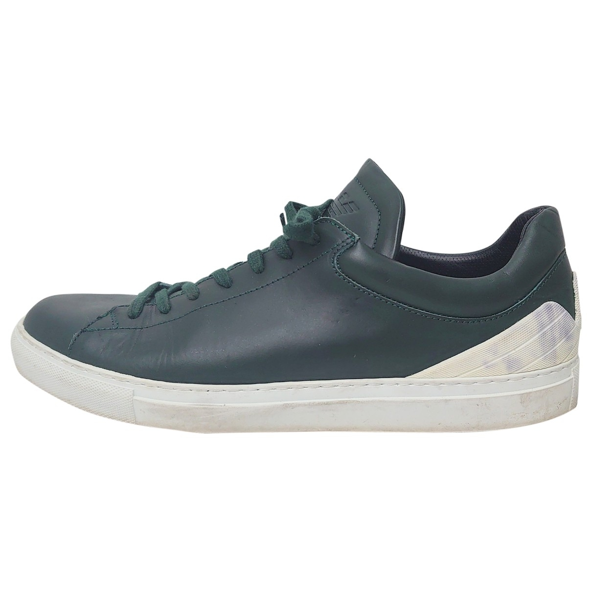 Emporio Armani \N Green Leather Trainers for Men 11.5 US