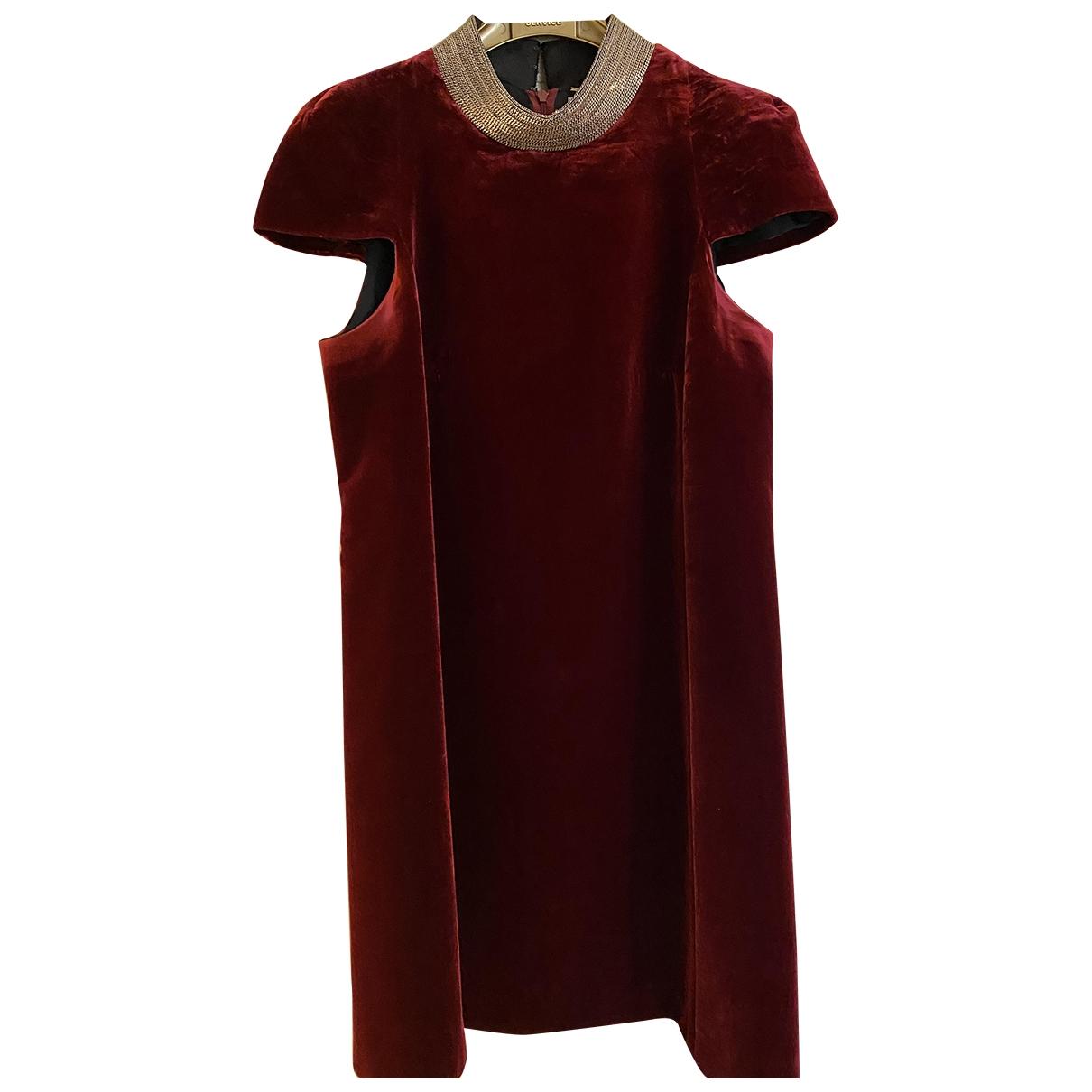 Saint Laurent \N Burgundy Velvet dress for Women 36 FR