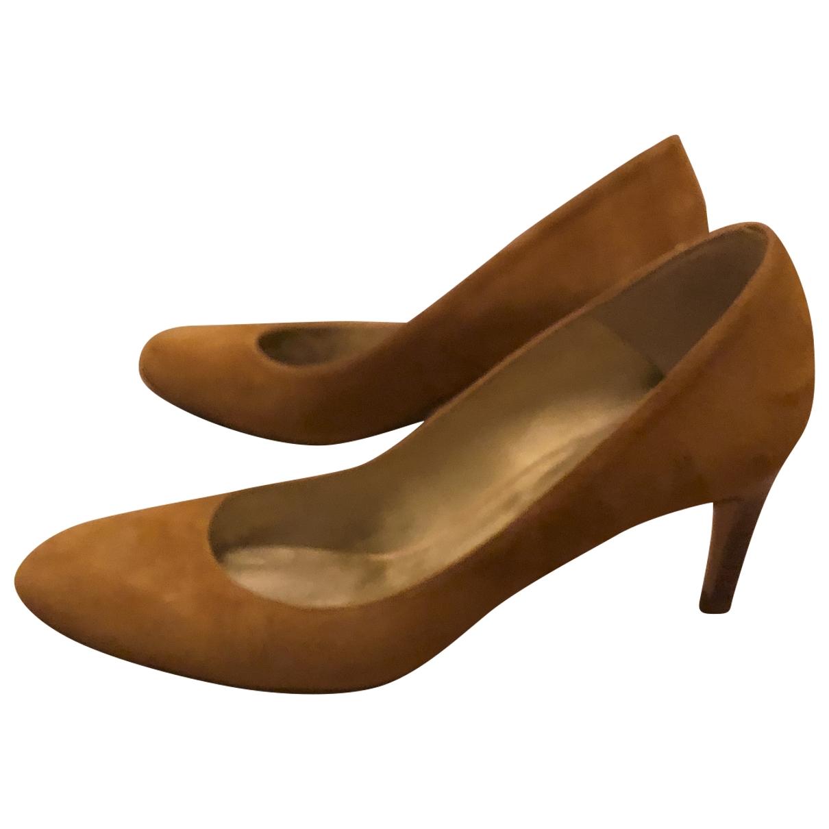 Mellow Yellow \N Camel Leather Heels for Women 38 EU