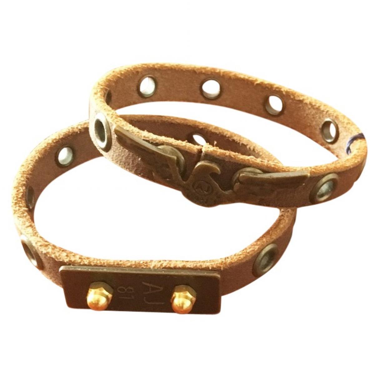 Emporio Armani \N Armband in  Kamel Leder