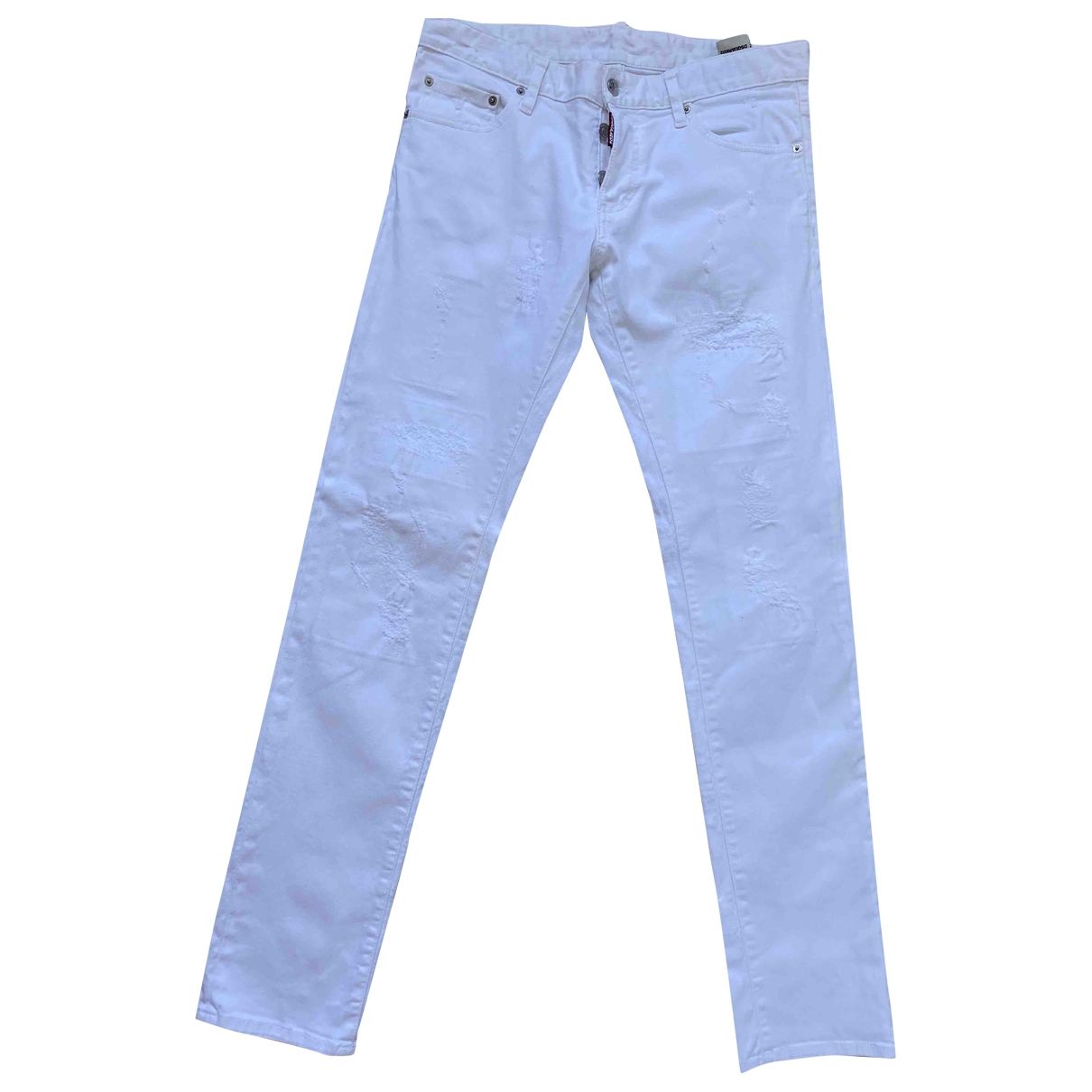 Dsquared2 \N White Cotton Jeans for Men 44 FR