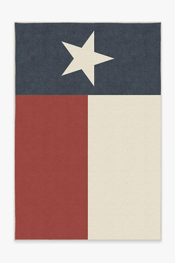 Washable Rug Cover | Texas Red Rug | Stain-Resistant | Ruggable | 6x9