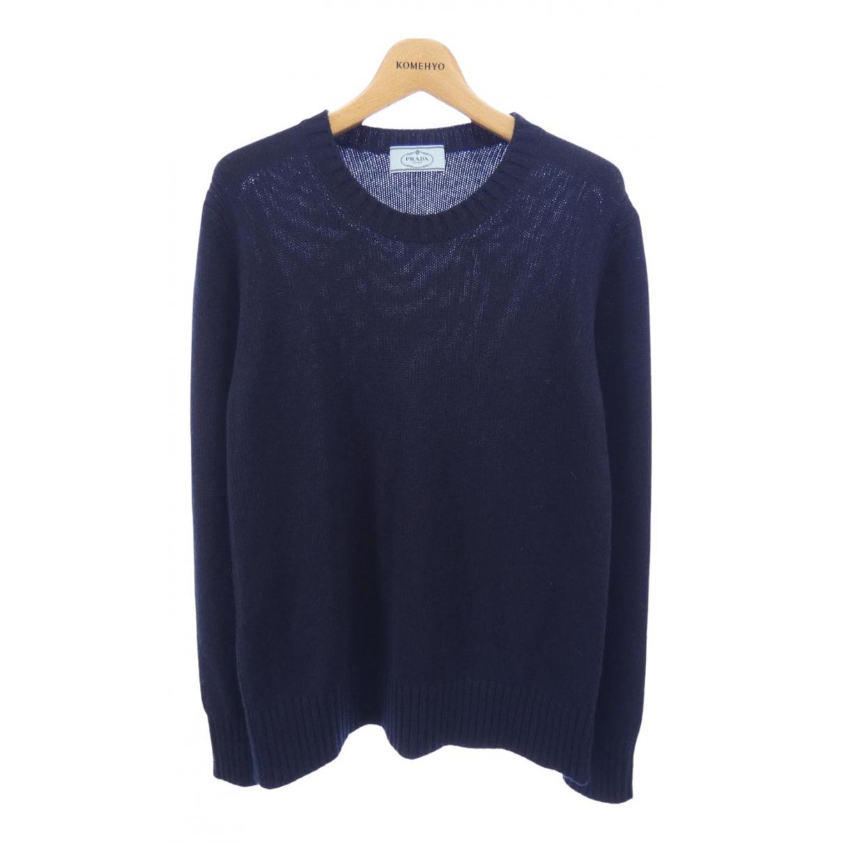 Prada \N Navy Cashmere Knitwear for Women 44 IT