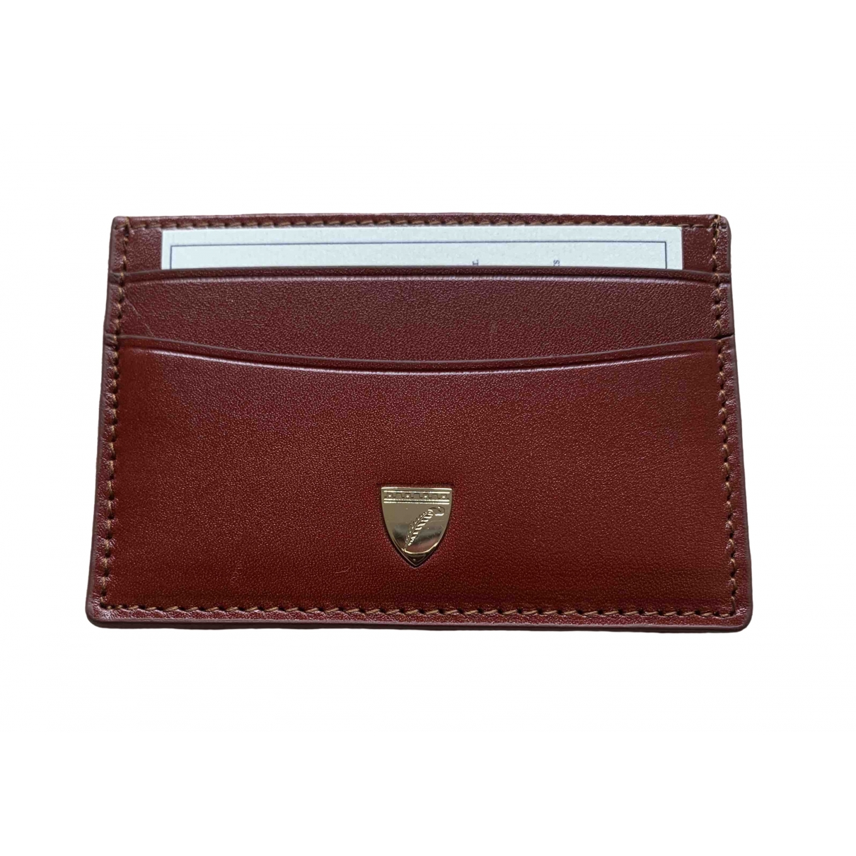 Aspinal Of London \N Brown Leather Purses, wallet & cases for Women \N