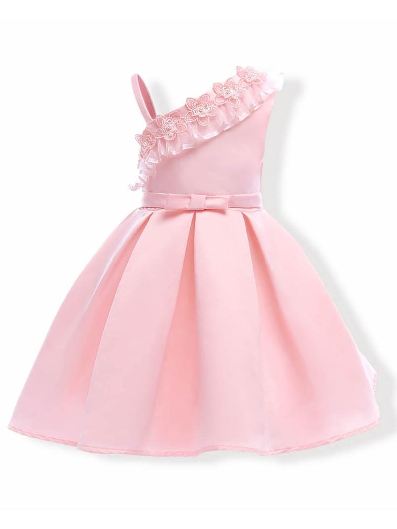 Ericdress Applique Patchwork Sleeveless Girl's Princess Dress