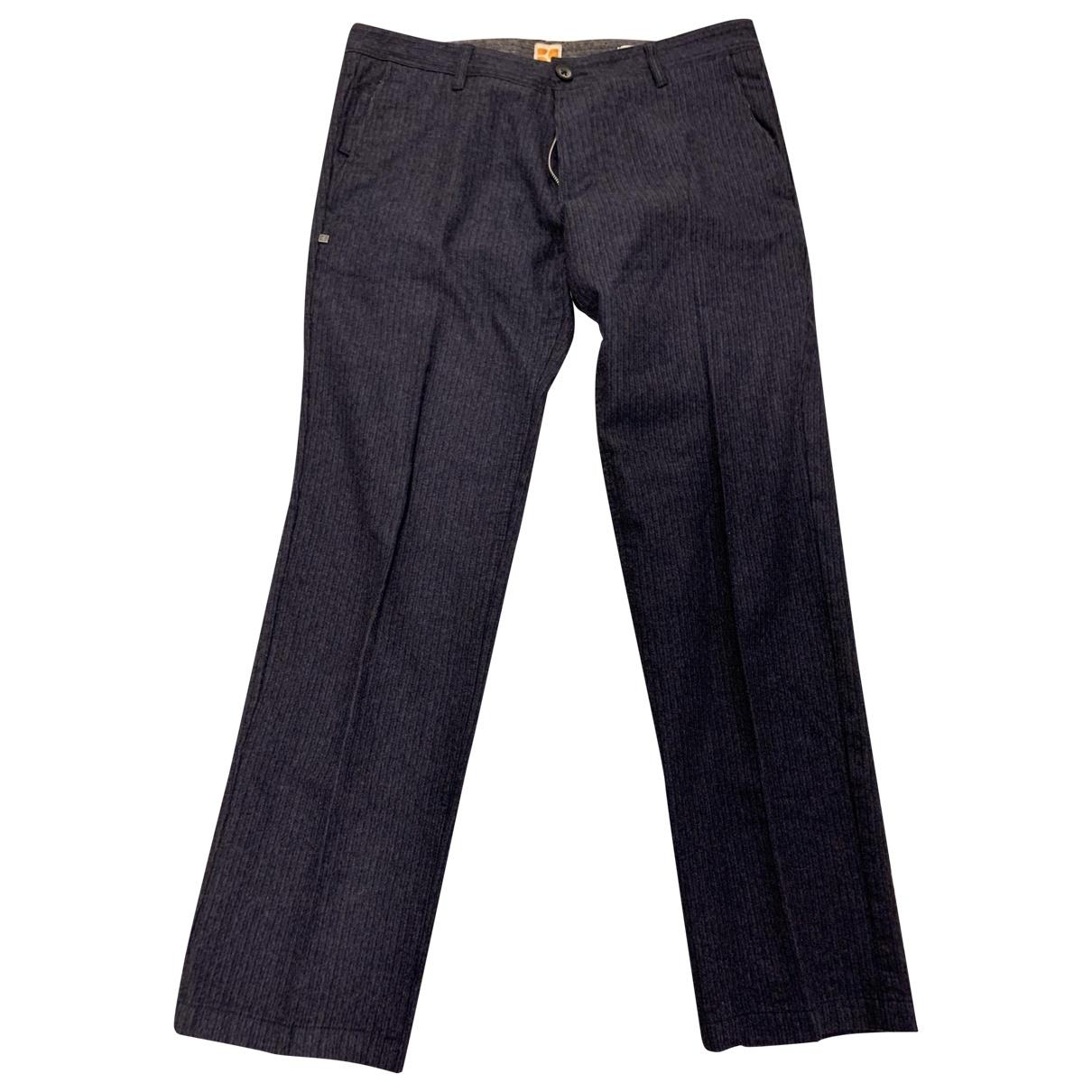 Boss \N Silver Wool Trousers for Men 50 IT
