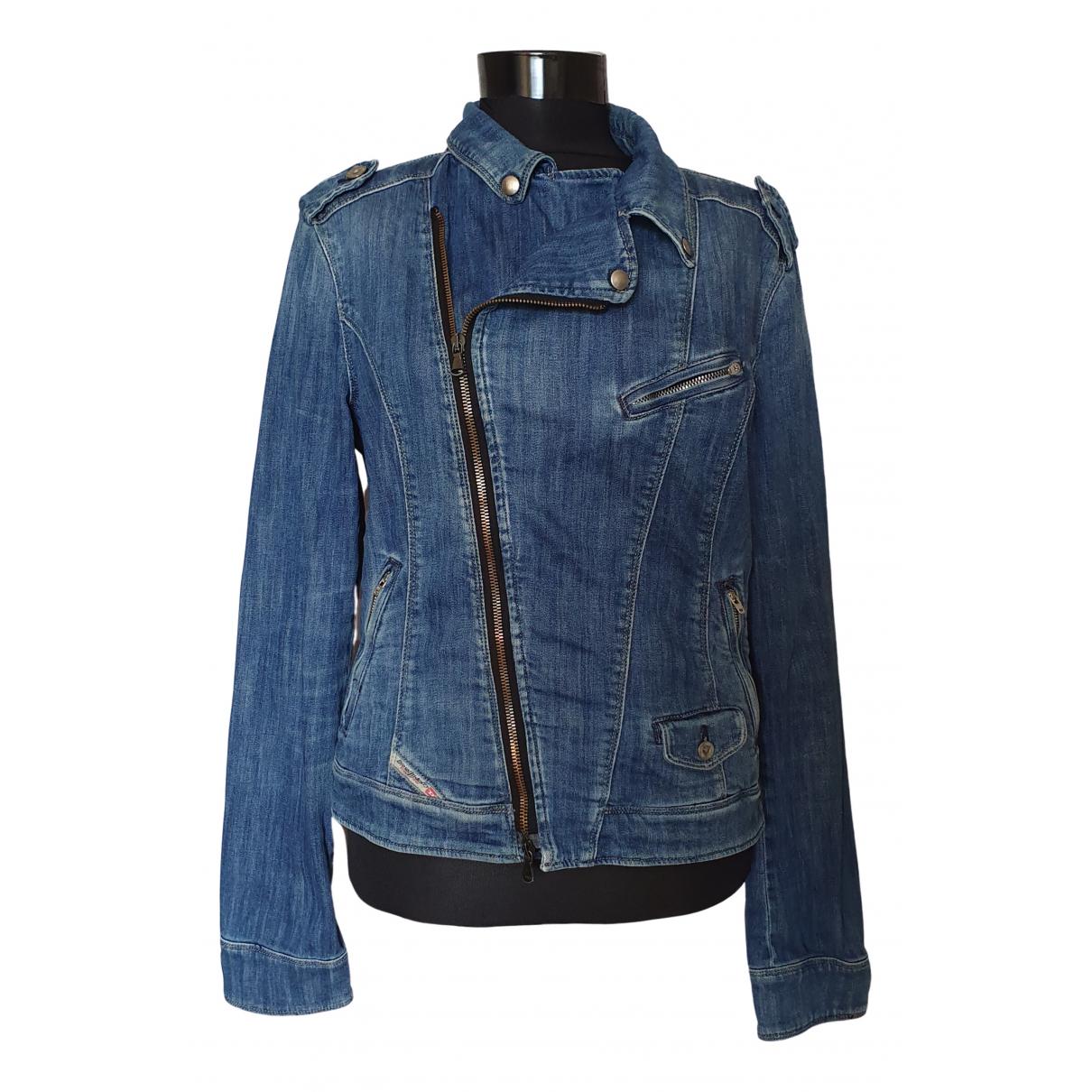 Diesel - Veste   pour femme en coton - bleu
