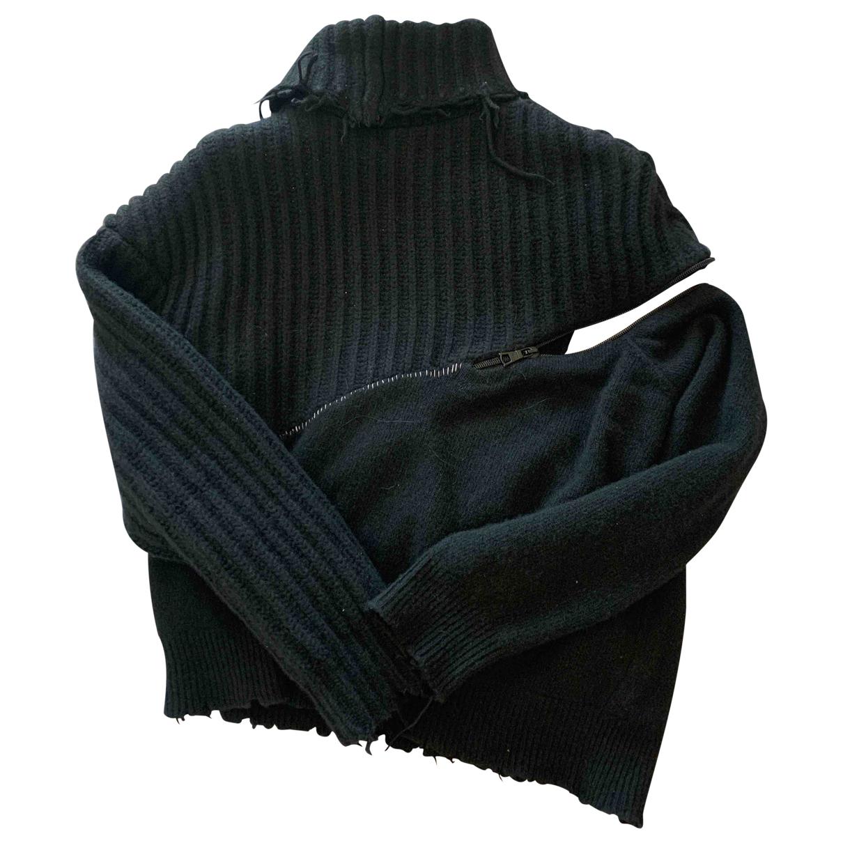 Unravel Project - Pull   pour femme en laine - noir