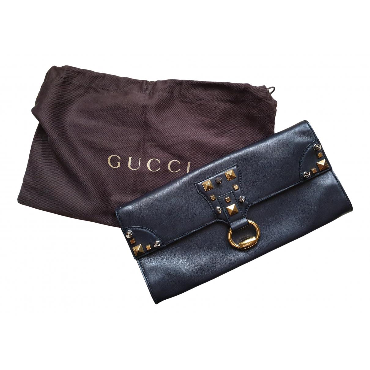Gucci \N Clutch in  Schwarz Leder