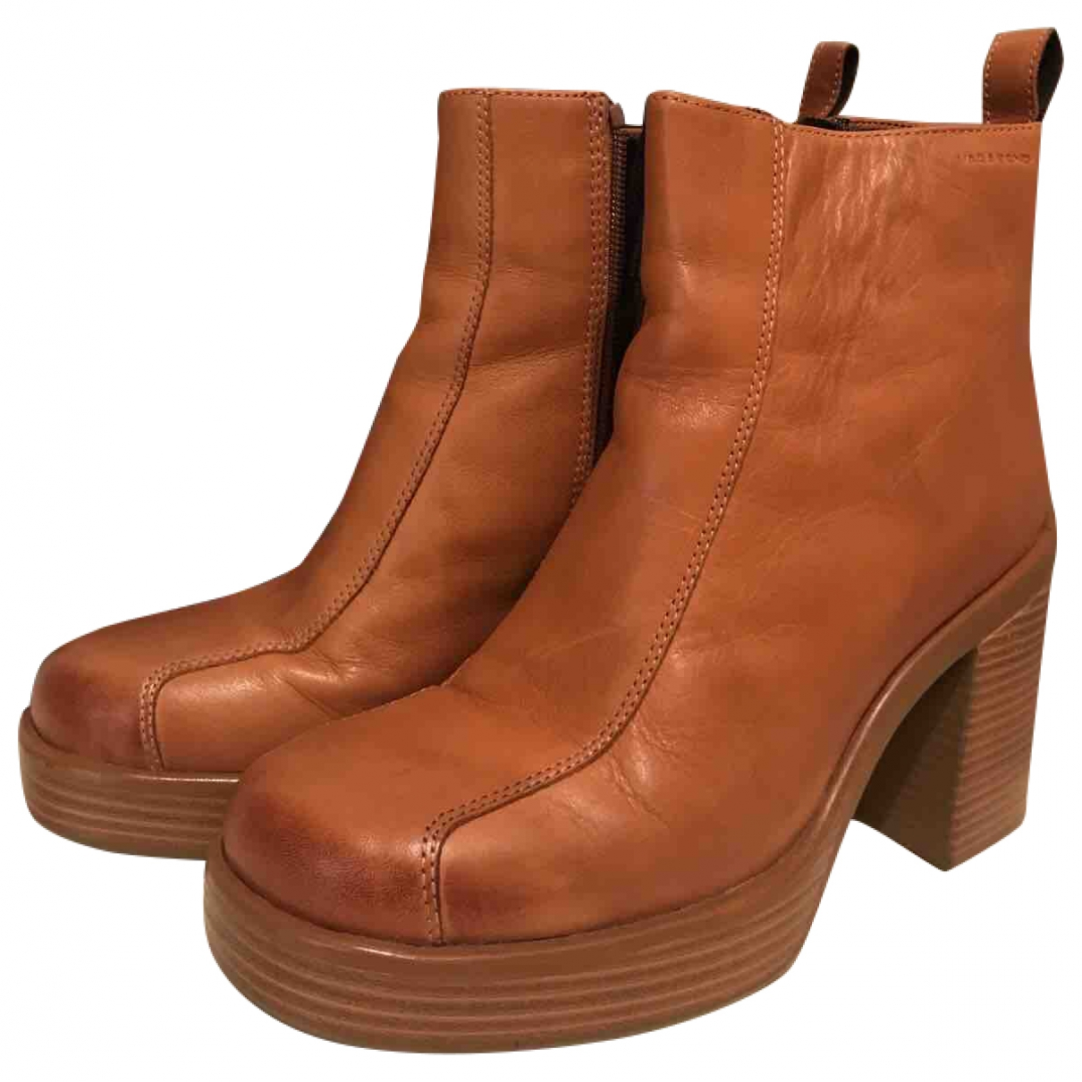 Vagabond - Boots   pour femme en cuir - marron