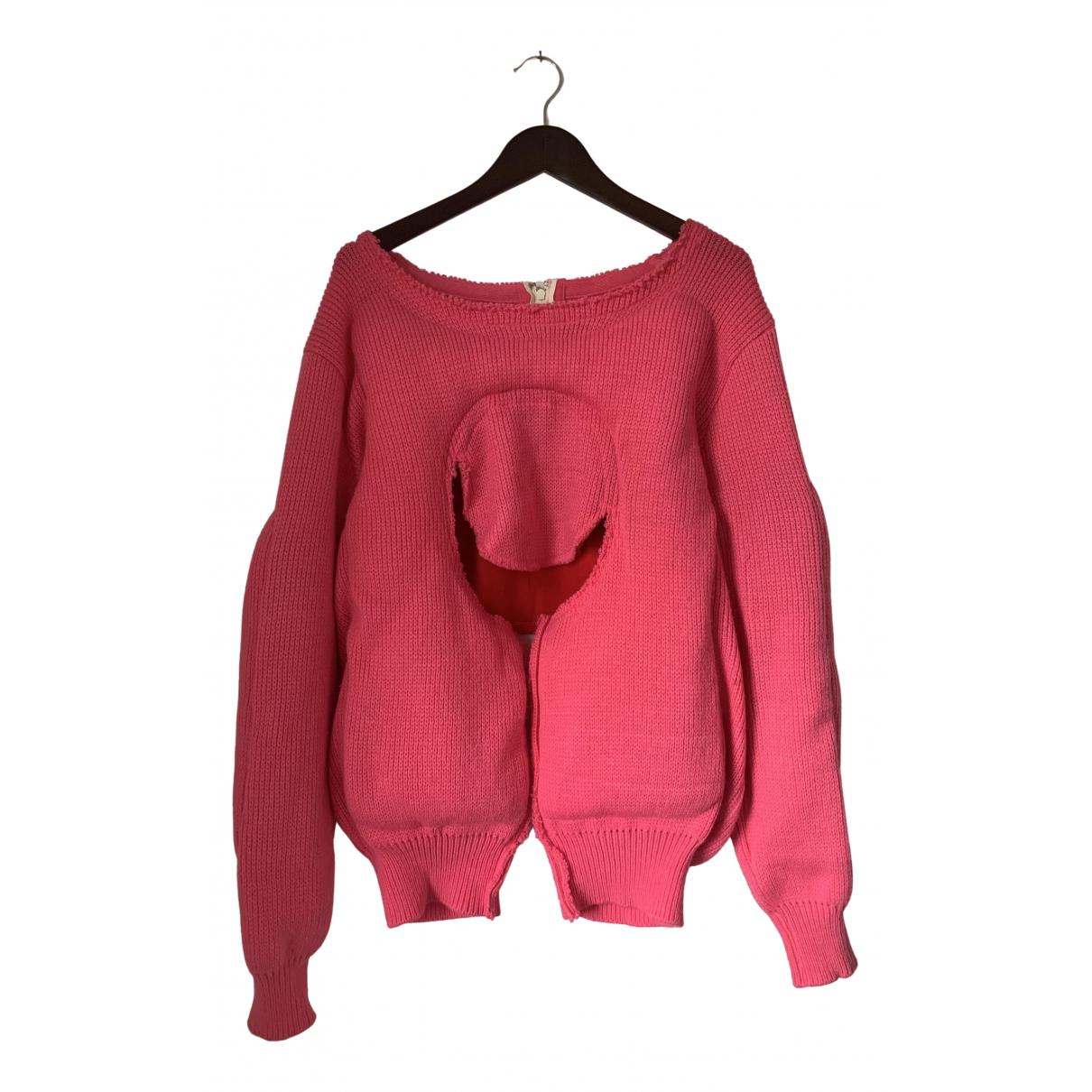 Comme Des Garcons - Pull   pour femme en laine - rose