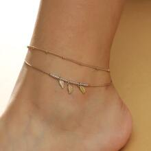 Leaf Charm Chain Anklet