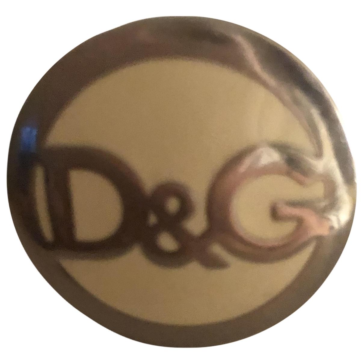 D&g \N Ring in  Gelb Stahl