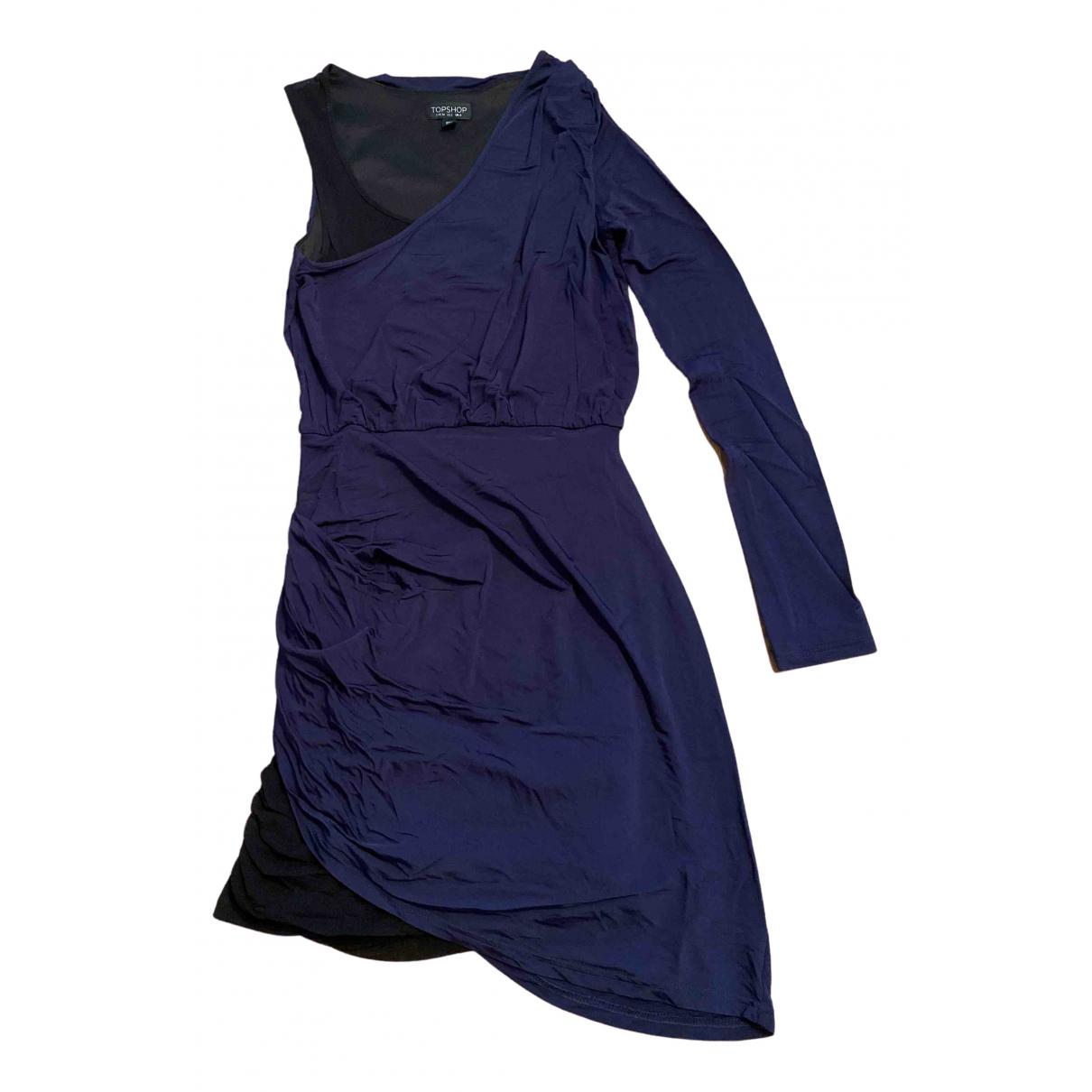 Tophop \N Kleid in  Marine Viskose