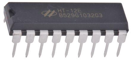 Holtek HT12E-18DIP, Encoder Encoder, 8 to 1, 18-Pin PDIP (25)