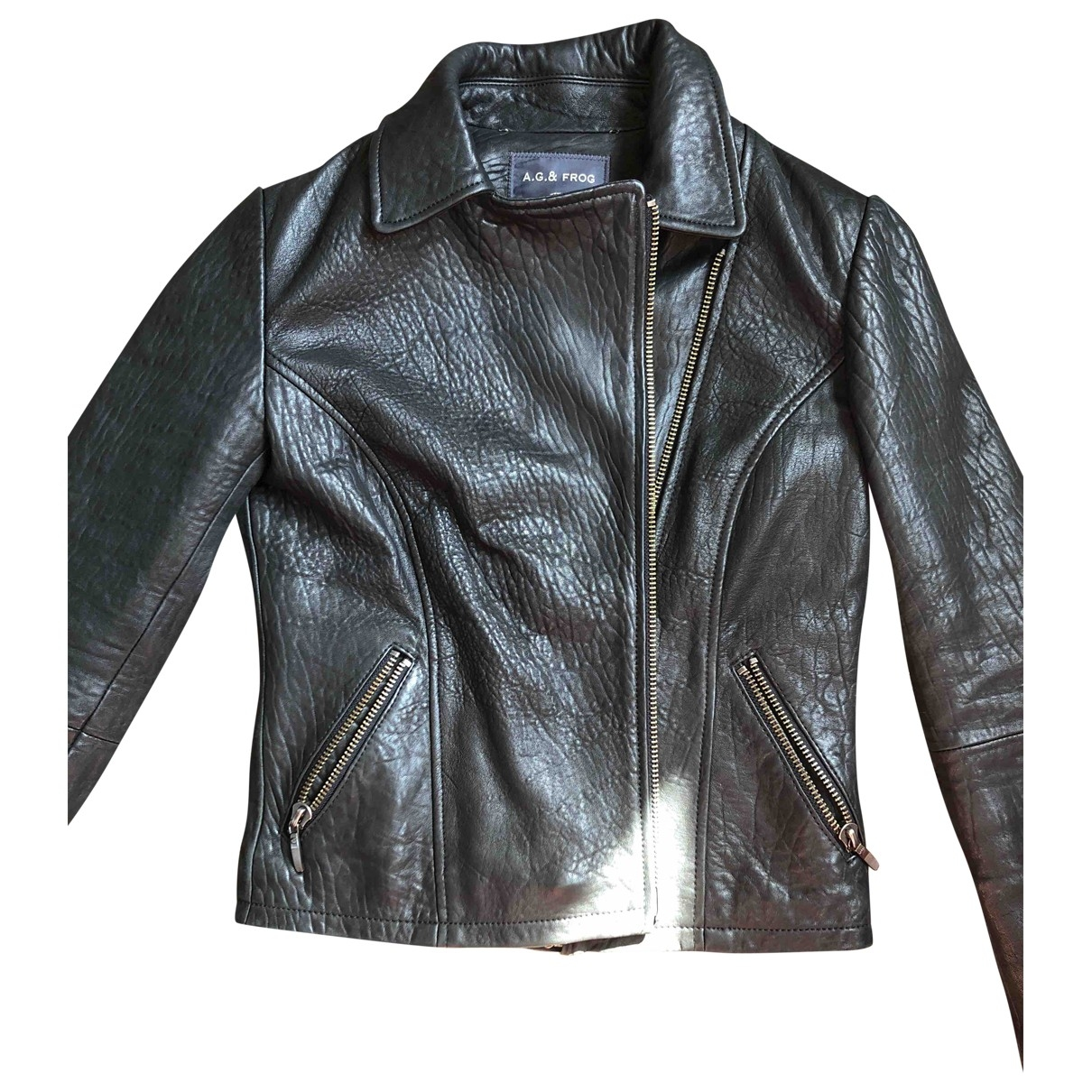 Non Signé / Unsigned \N Black Leather Leather jacket for Women 42 IT