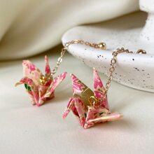 Cranes Drop Earrings
