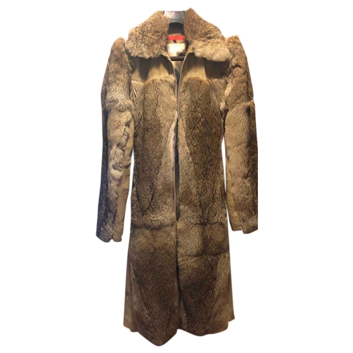 Hallhuber \N Beige Rabbit coat for Women 36 FR