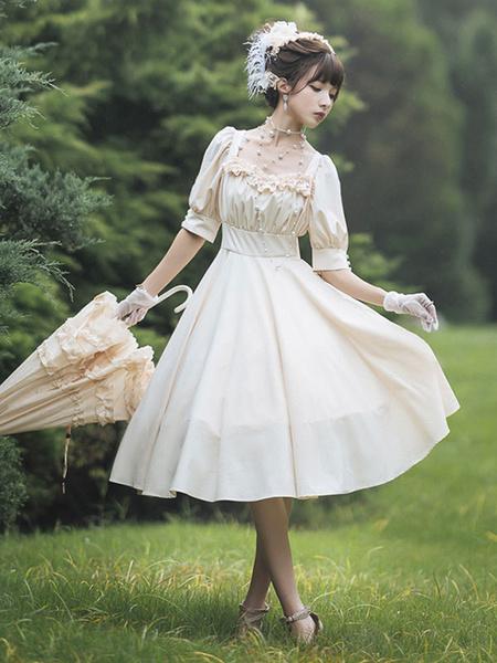 Milanoo Vestido clasico de Lolita OP Cathighness Carol Manor Lolita Vestidos de una pieza