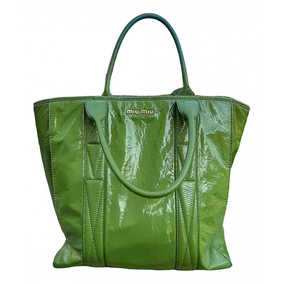 Miu Miu \N Green Patent leather handbag for Women \N