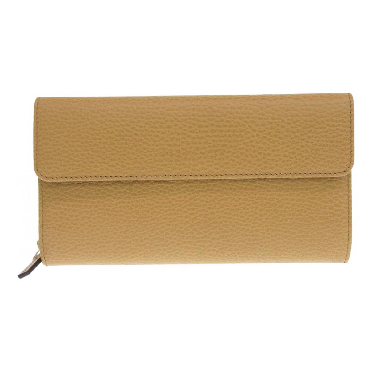 Gucci \N Beige Leather wallet for Women \N