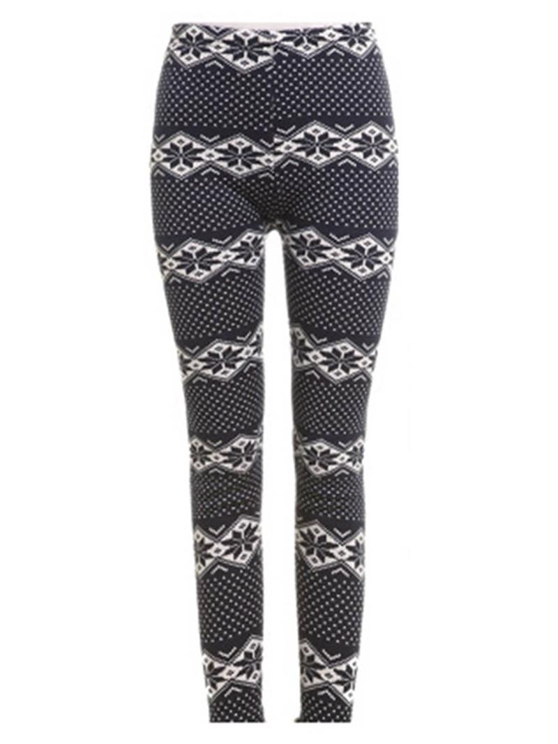 Ericdress Thick Print Winter Women's Leggings Pants