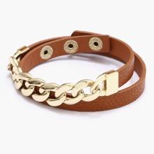 1pc Guys Chain Decor Adjustable Bracelet