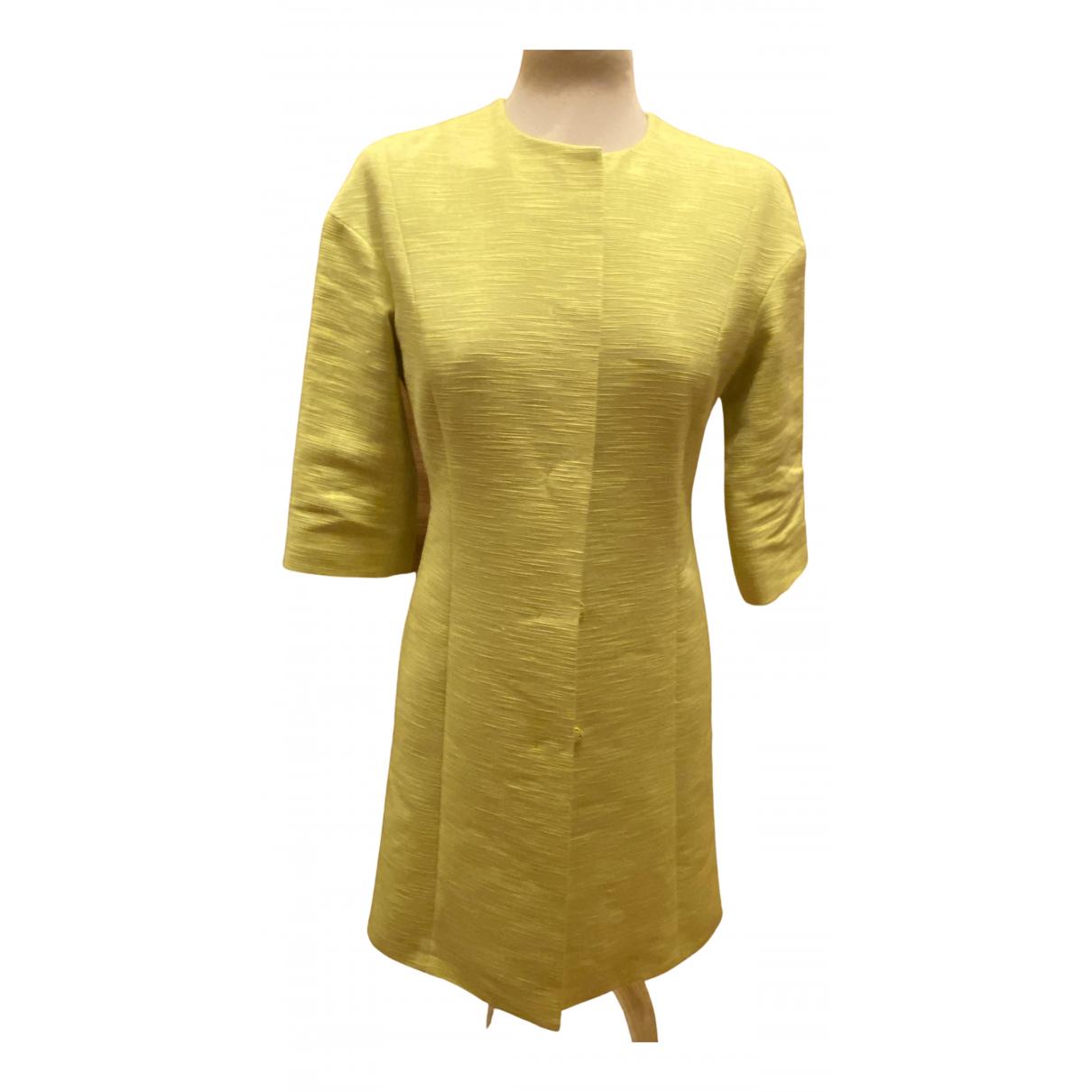 Etro \N Green Linen Trench coat for Women 38 IT