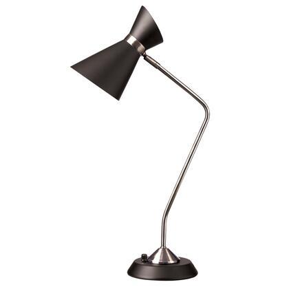1679T-BK-PC 1 Light Table Lamp  Matte Black /Polished