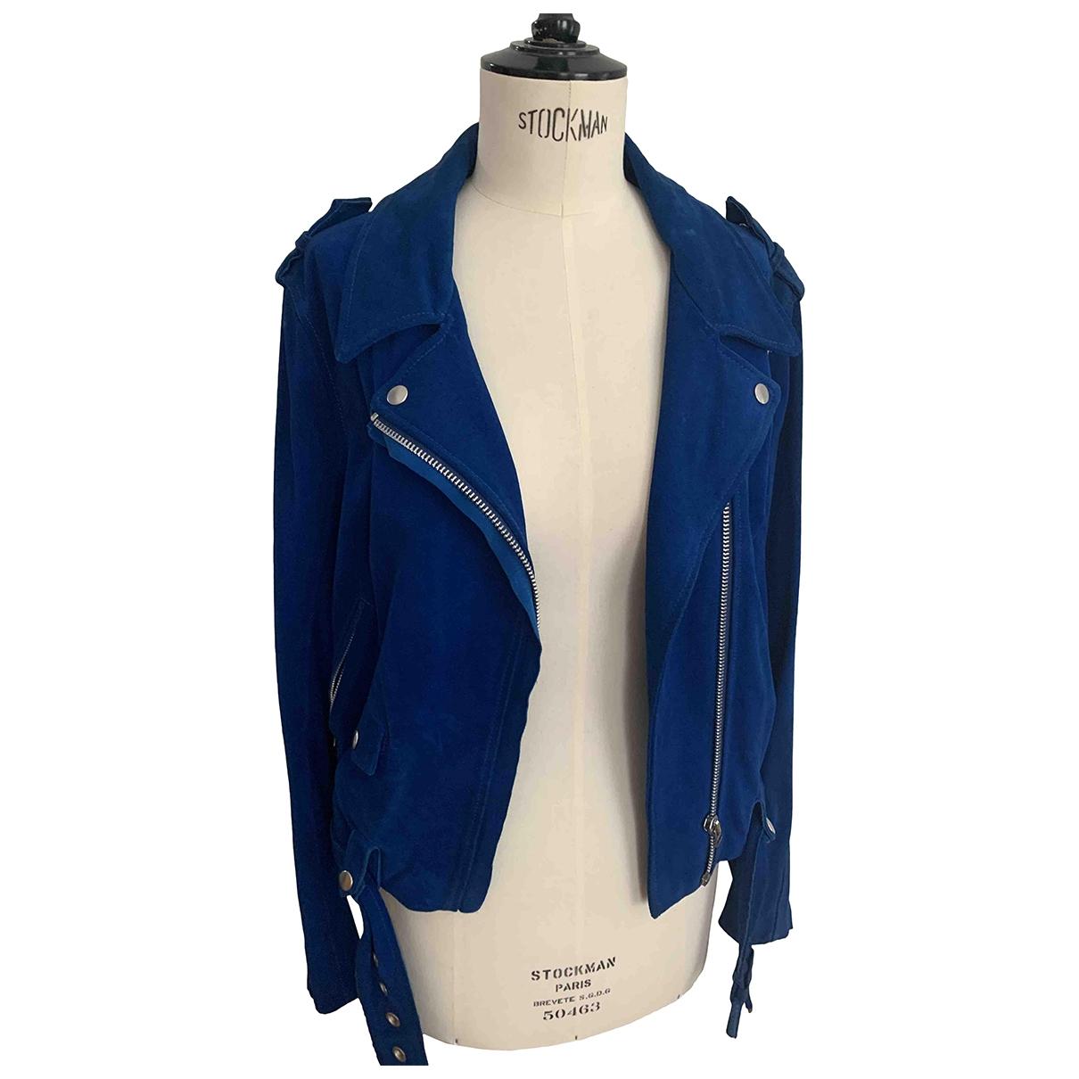 Acne Studios \N Blue Suede jacket for Women 40 FR