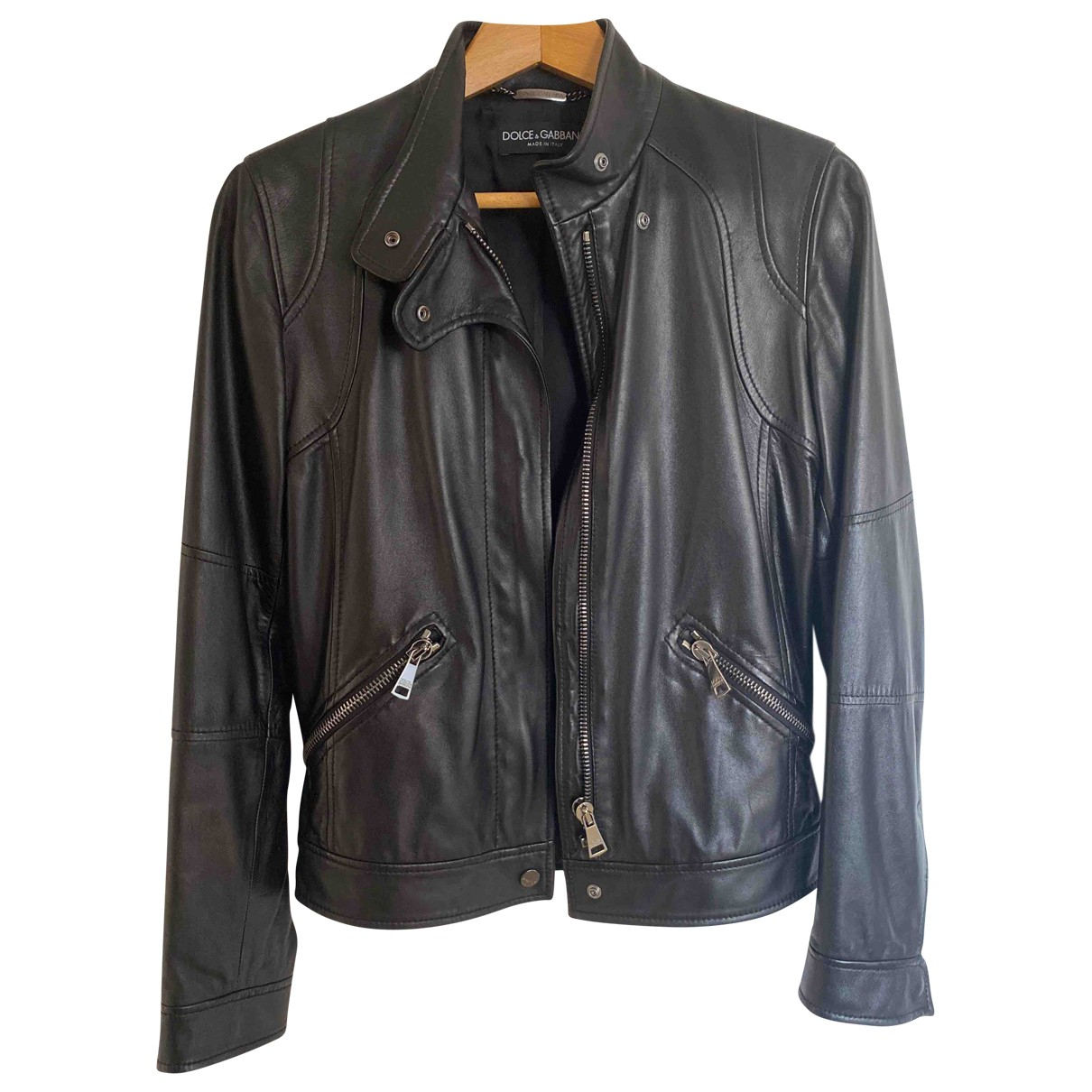 Dolce & Gabbana \N Black Leather jacket for Women 40 IT