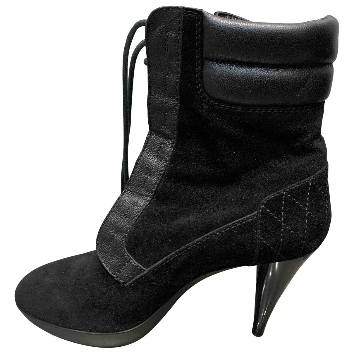 Tod's - Bottes   pour femme en suede - noir