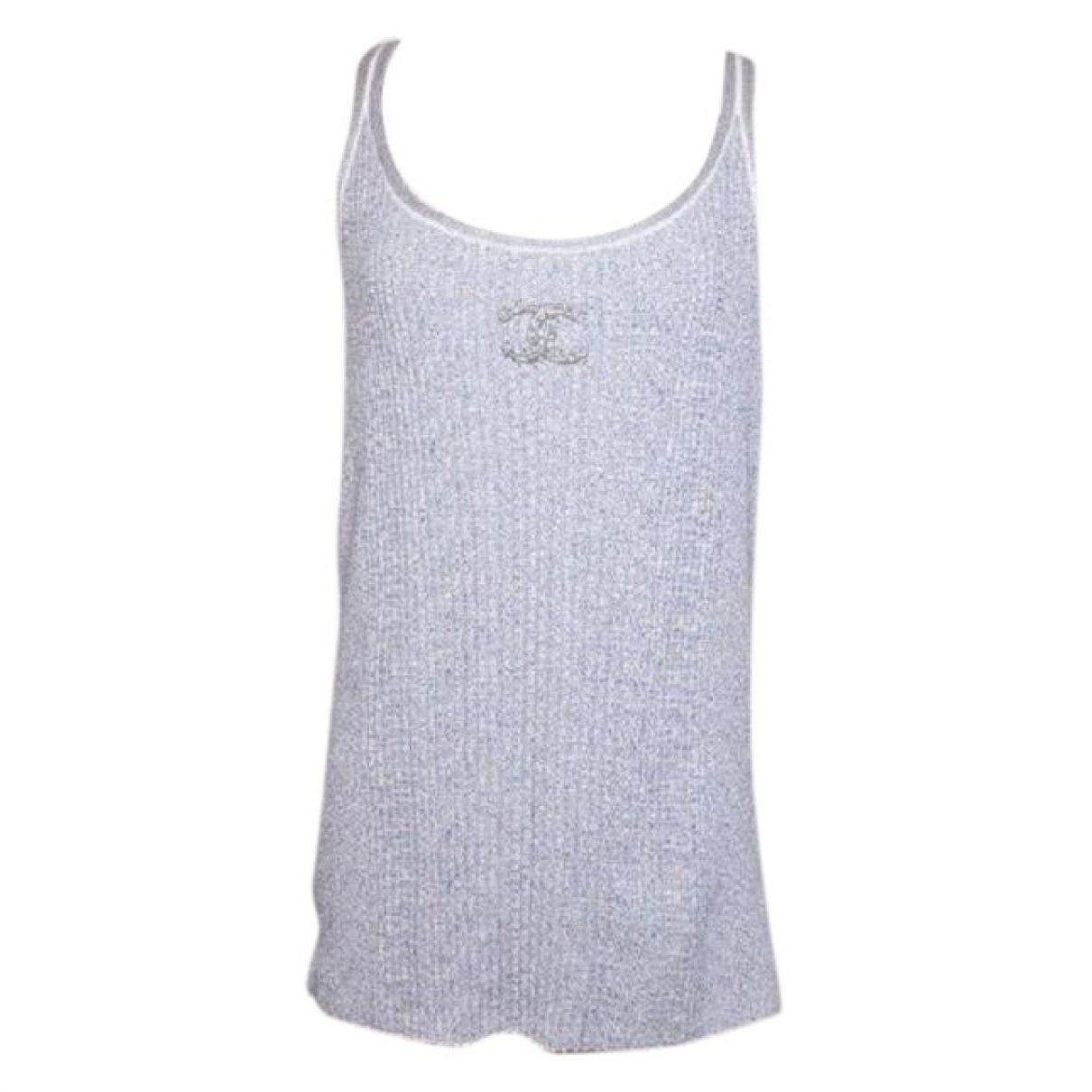 Chanel \N Top in  Grau Baumwolle