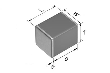 TDK 1210 (3225M) 22nF Multilayer Ceramic Capacitor MLCC 450V dc ±5% SMD C3225C0G2W223J230AA (1000)