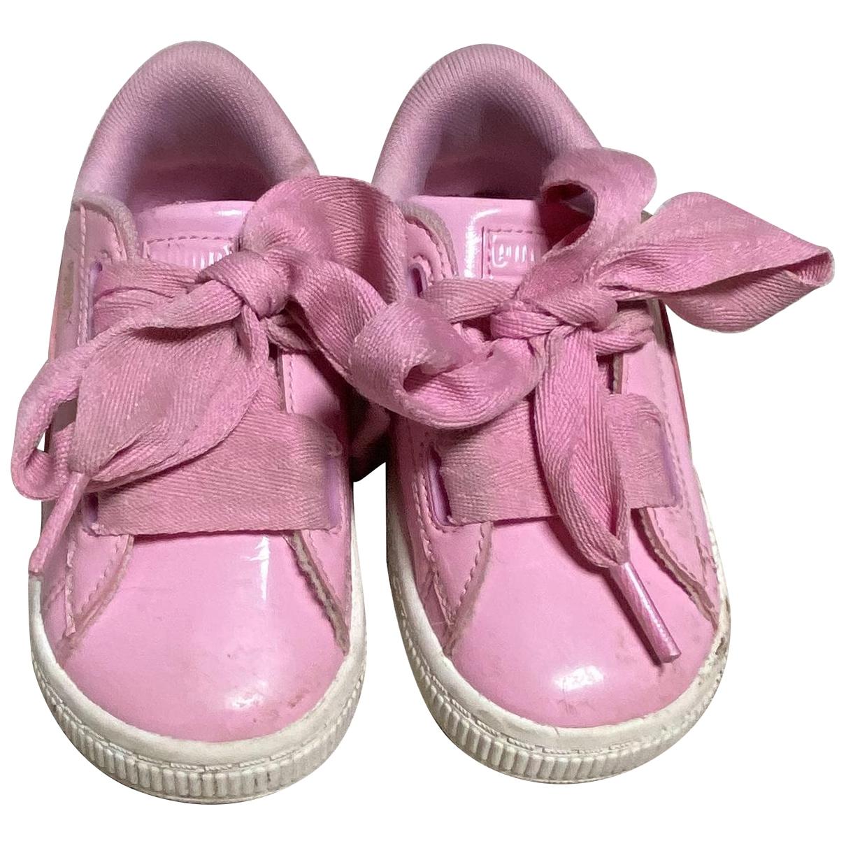 Rihanna X Puma \N Sneakers in  Rosa Leinen