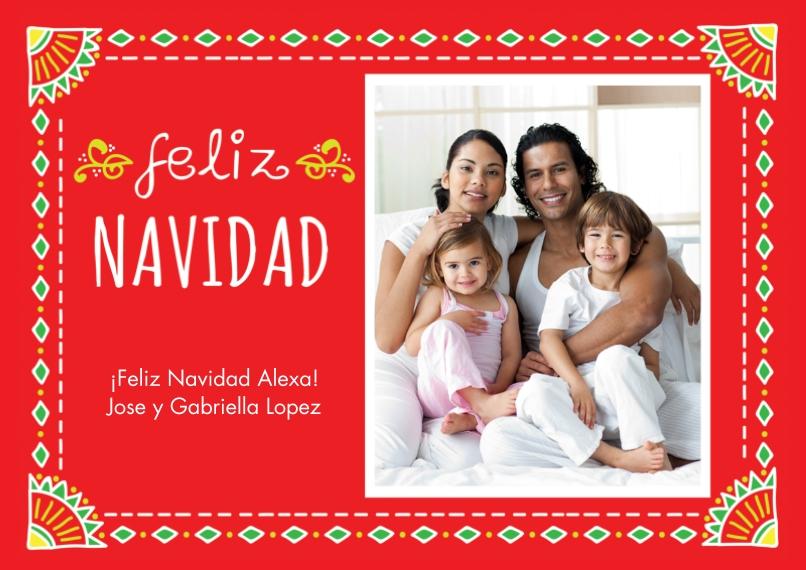Tarjetas de Navidad 5x7 Cards, Premium Cardstock 120lb, Card & Stationery -Doodle Navidad