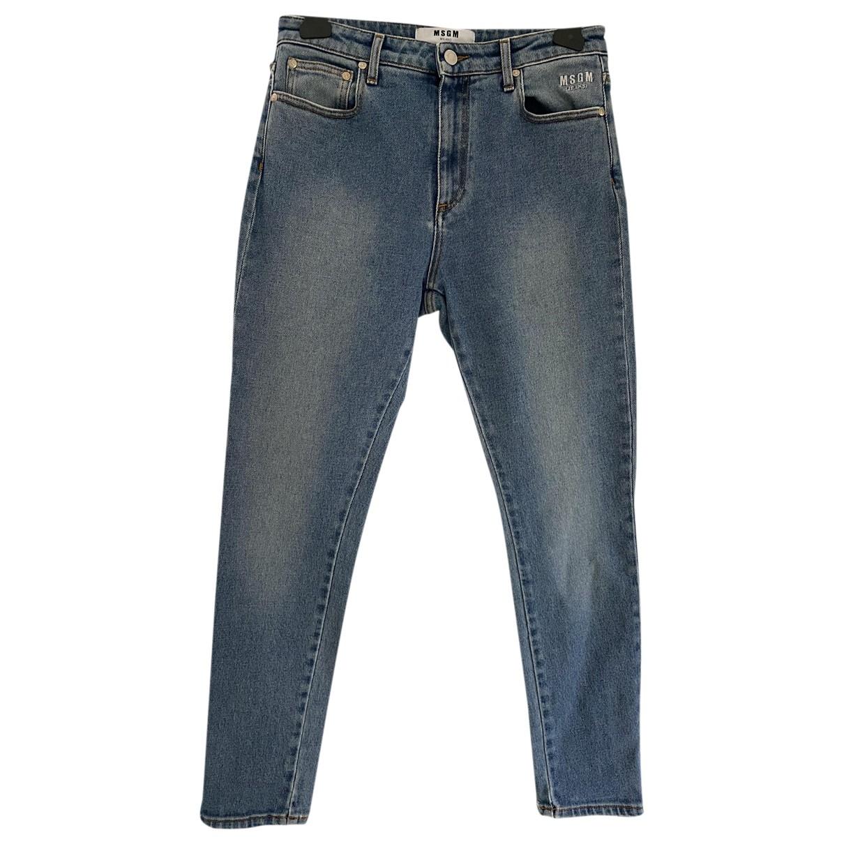 Msgm \N Blue Denim - Jeans Trousers for Women 44 IT