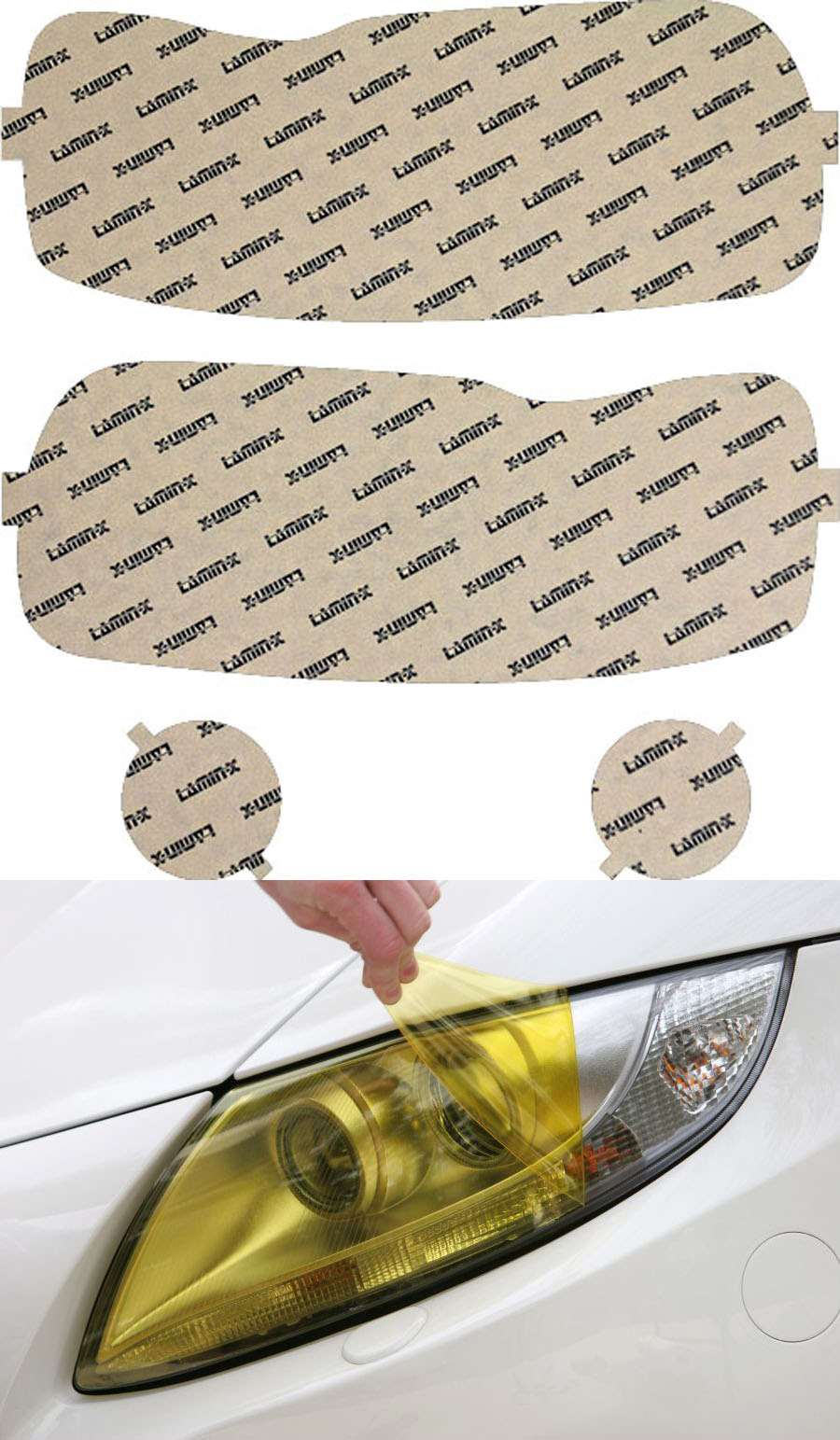 Ford Escape 05-07 Yellow Headlight Covers Lamin-X F505Y