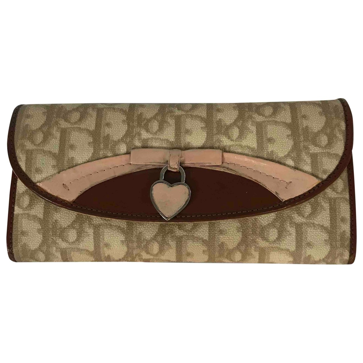 Dior \N Beige Cloth wallet for Women \N