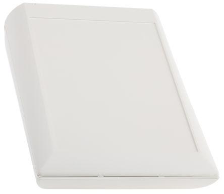 OKW Comtec, Sloped Front, ABS, 200 x 150 x 71.5mm Desktop Enclosure, White