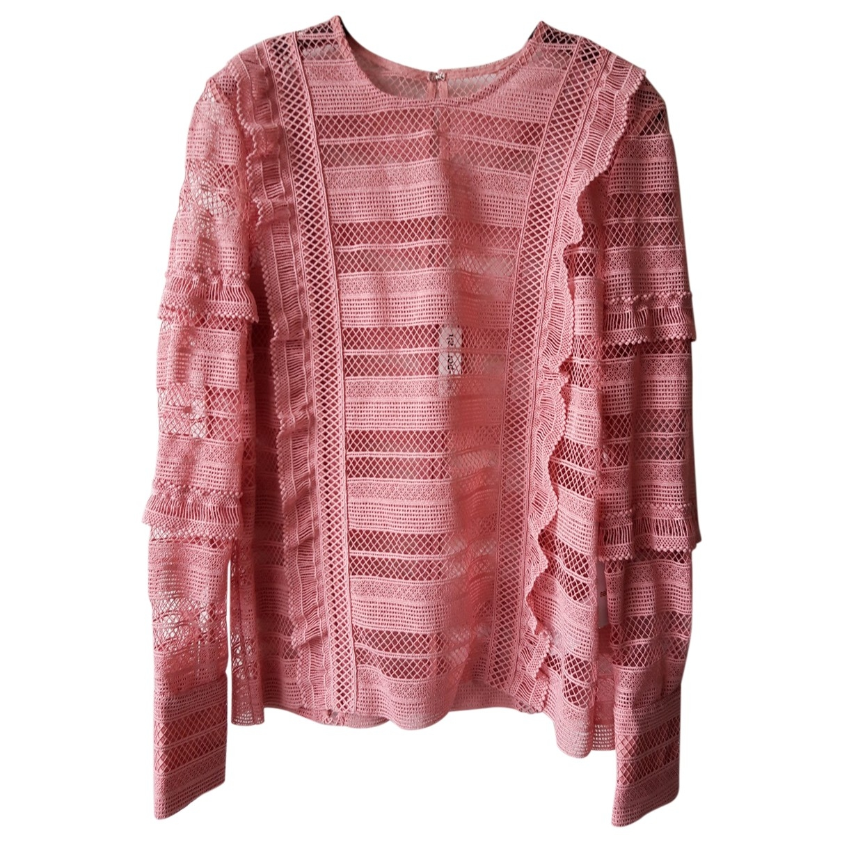 Self Portrait \N Top in  Rosa Polyester