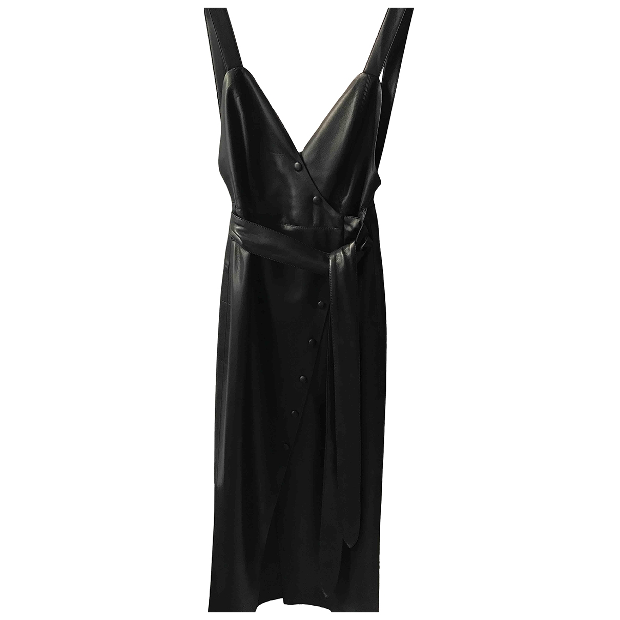Nanushka - Robe   pour femme en cuir - noir