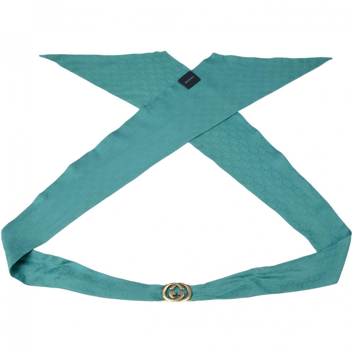 Gucci \N Green Cloth belt for Women 95 cm