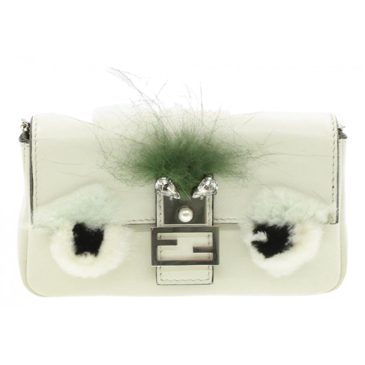 Fendi Baguette White Leather Clutch bag for Women N