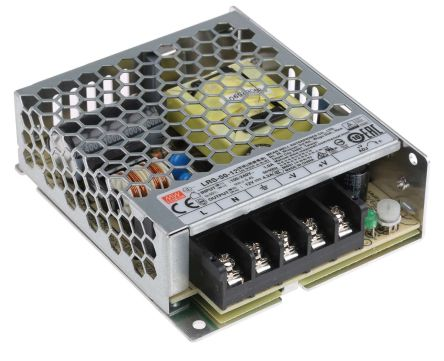 Mean Well , 50W Embedded Switch Mode Power Supply SMPS, 12V dc, Enclosed