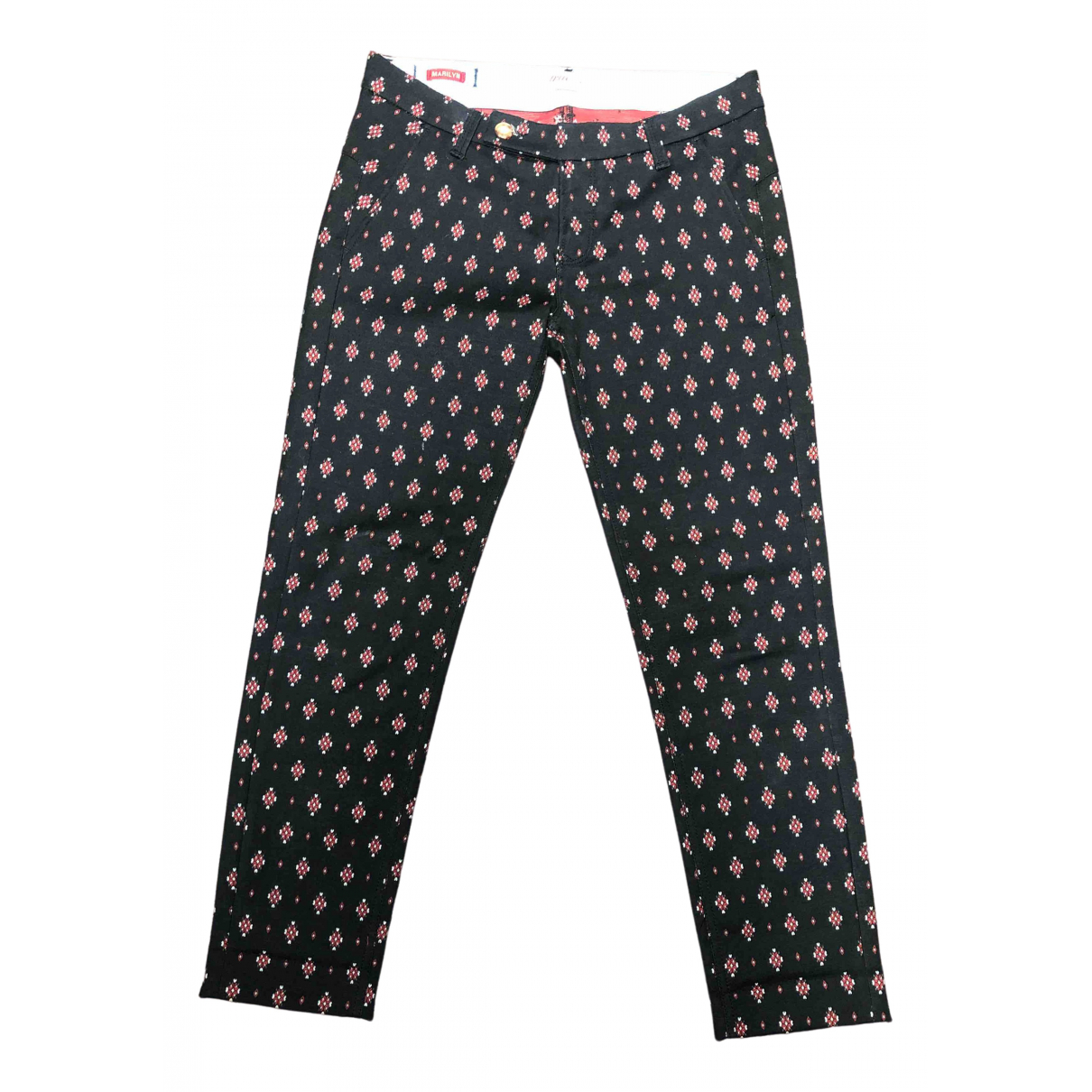 True Nyc \N Black Cotton Trousers for Women 40 IT