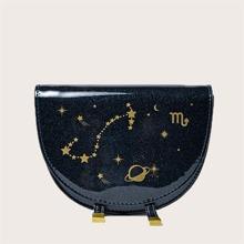 Mini Satteltasche mit Stern & Planet Muster