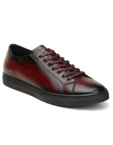 Mens Burgundy Lace Up Shoe
