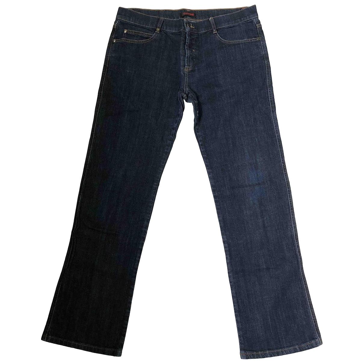 Roberto Cavalli \N Blue Cotton - elasthane Jeans for Men 34 US