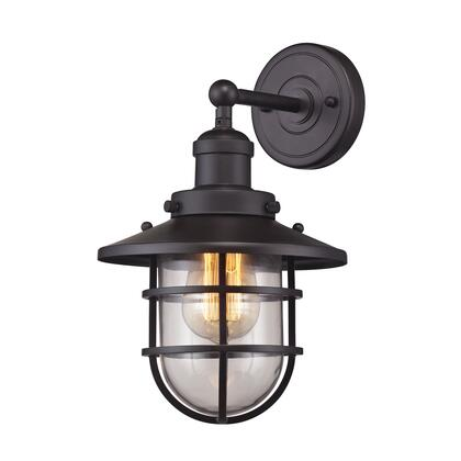 66366/1 Seaport 1 Light Sconce in Oil Rubbed